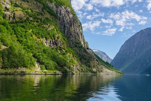 Norway. Naeroyfjord. Norwegian fjord
