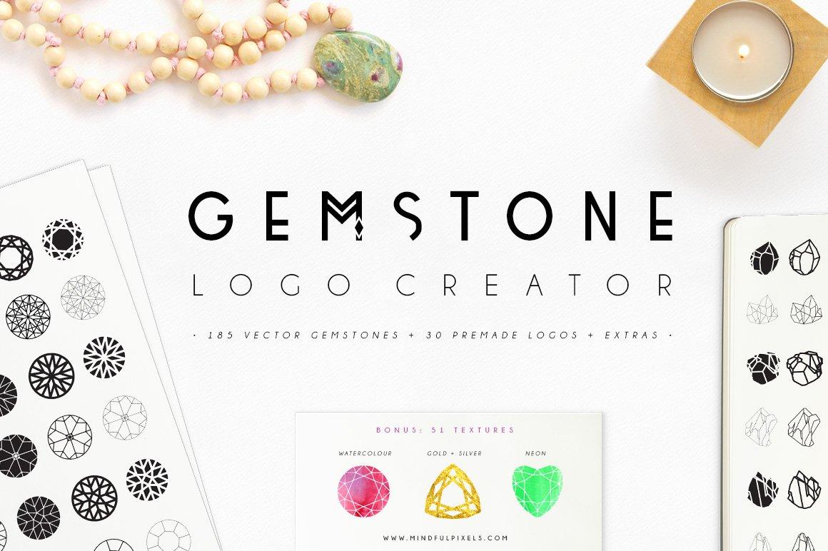 Gemstone Logo Creator Logo Templates Creative Market