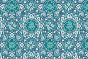 Green seamless pattern