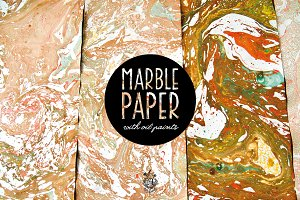 Marble Paper With Oil Paints