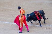 Spain. Bullfighter gives a pass