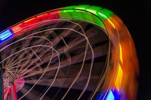Ferris wheel light trails