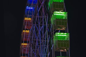 Ferris wheel illumination