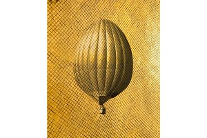 Retro style air balloon