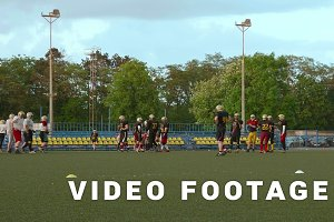 American football - part 1. Preparation to attack.