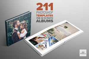 Photoshop templates for 12x12 albums