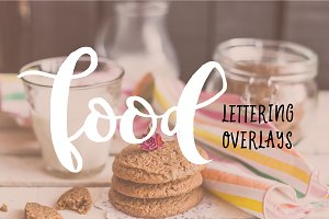 Food lettering overlays. Vector+PNG!