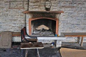 Dirty Fireplace Abandoned