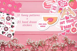 For cool girls Patterns and stickers