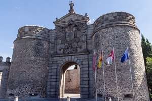 Bisagra gate in Toledo. Spain