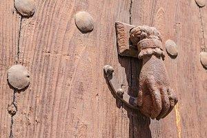 rusty door knocker