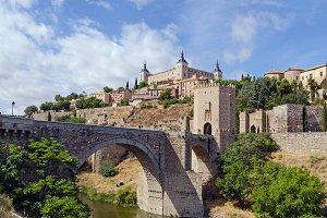 Spain. Alcantara bridge, Toledo