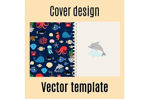 Cover design with sea pattern