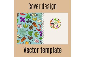 Cover design with spices pattern