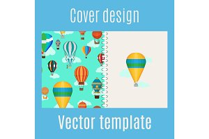 Cover with hot air balloons pattern