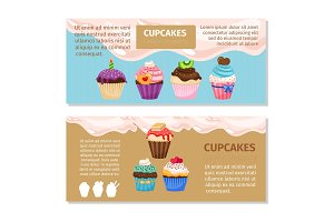 Online shopping muffin flyers design