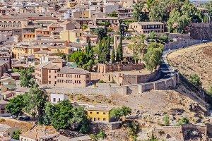 Spain. Toledo Alcazar view.