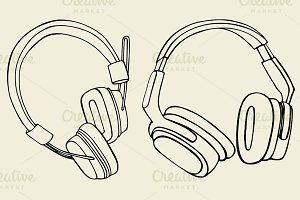 set of headphones
