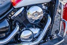 Shiny motyorcicle engyne