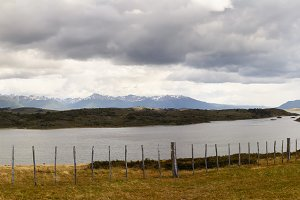 panorama of unspoilt nature in Patagonia near Ushuaia
