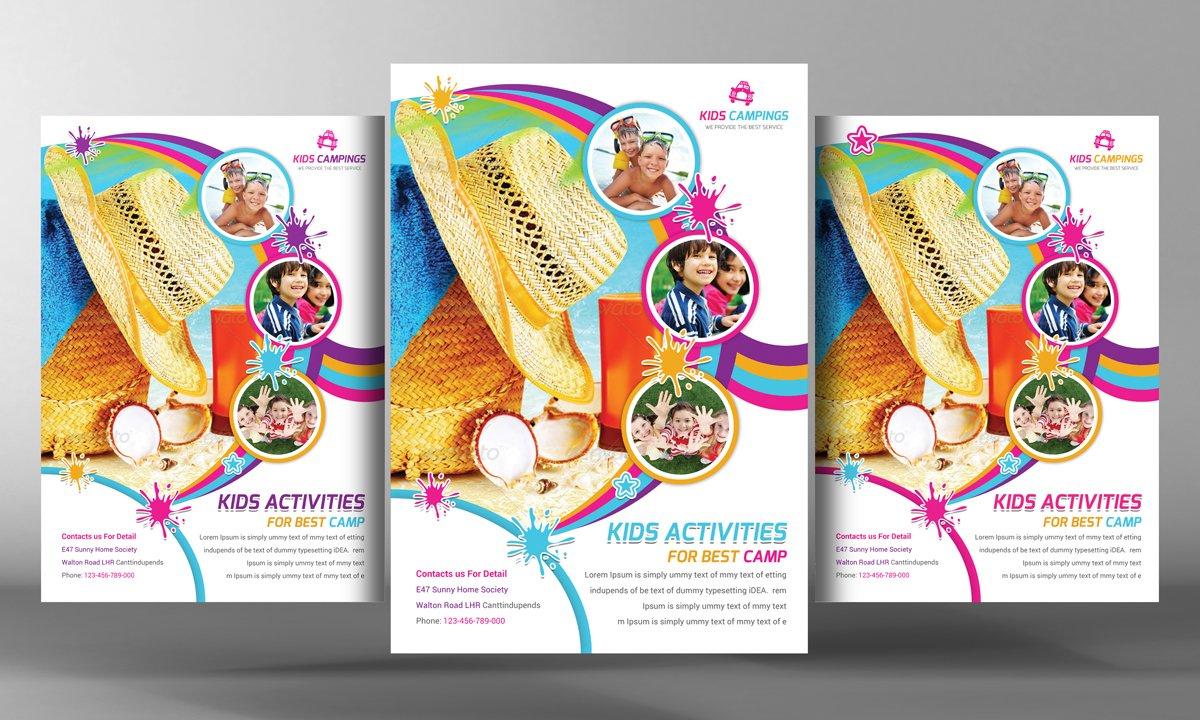 kids activities flyer template flyer templates