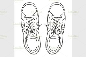 sketch of the sneakers