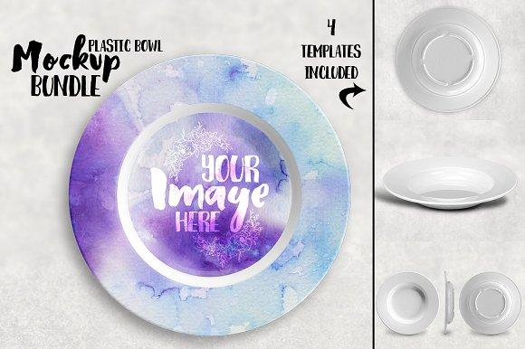 Plastic Bowl Mockup