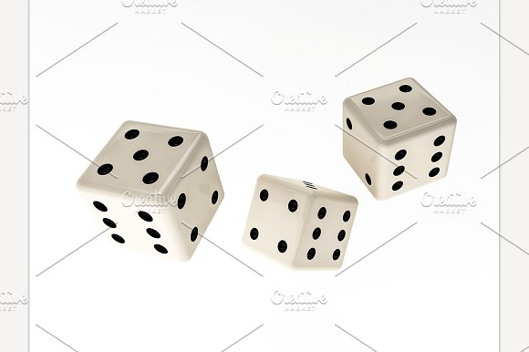 Casino Dice Isolated On White