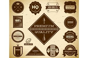 Vintage labels. Collection 5