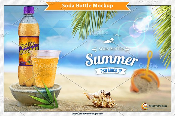 Soda Bottle Psd Mockup