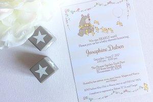 Bear Baby Shower invitation