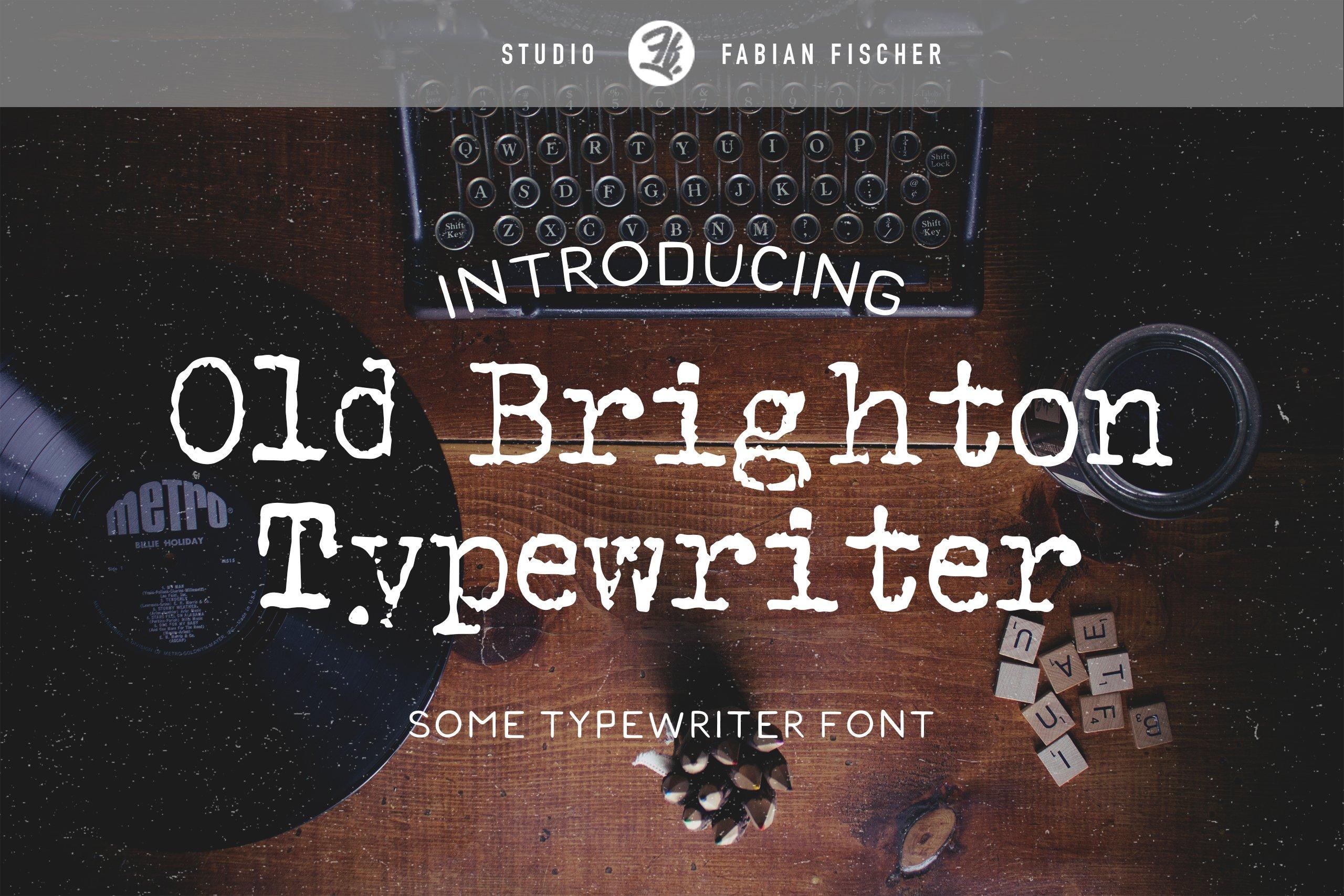Rustic Typewriter Font Free