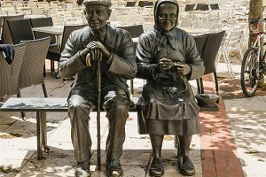 Elders statue in Burgos, Spain