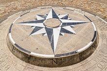 Compass rose detail
