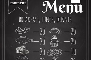 Vector Food Menu Poster Design