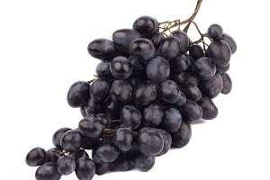 Bunch of raw violet grapes, isolated