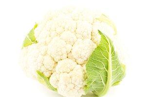 Head of white cauliflower, isolated