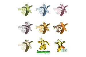 banana logo templates