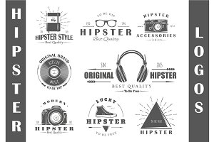 8 Hipster Logos Templates Vol.1