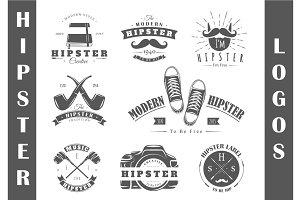 8 Hipster Logos Templates Vol.2