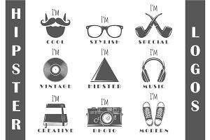 9 Hipster Logos Templates Vol.3