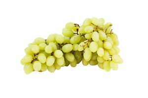 Bunch of green grape, isolated on white