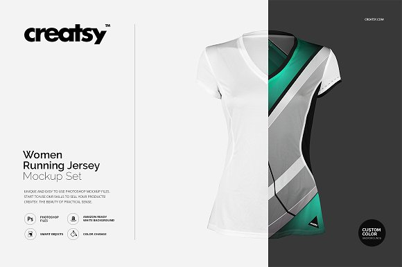 Download Women Running Jersey Mockup Set
