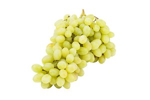 Bunch of light green grape, isolated