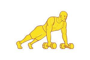 Fitness Athlete Push Up Dumbbell