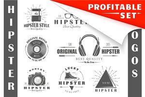 25 Hipster Logos Templates
