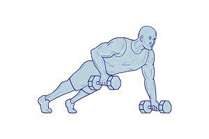 Fitness Athlete Push Up One Hand