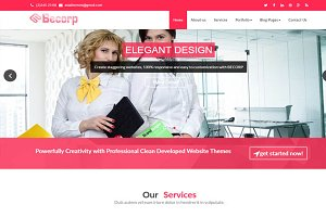 Becorp wordpress theme free version