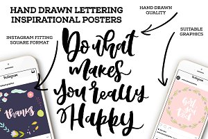 Lettering posters. Vector + JPG+PNG.