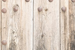 Old wooden door with s